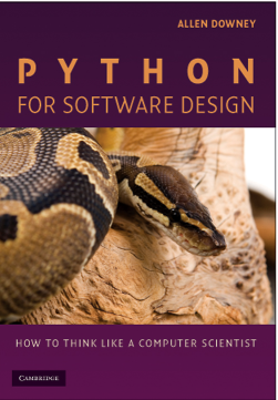 Boken Python for Software Design.
